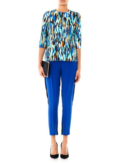 Jonathan Saunders Abbey Pollock-print blouse