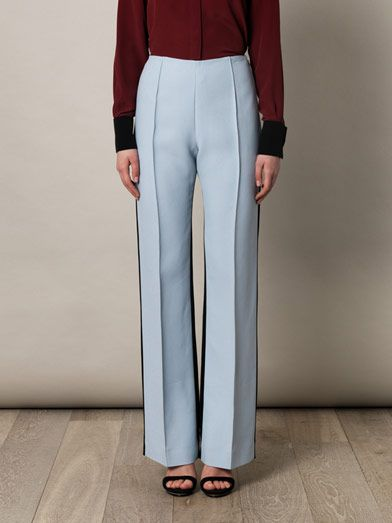 Jonathan Saunders Krista high-waisted bootcut trousers