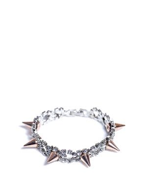 Crystal and spike bracelet