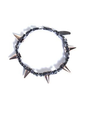 Spike and crystal bracelet