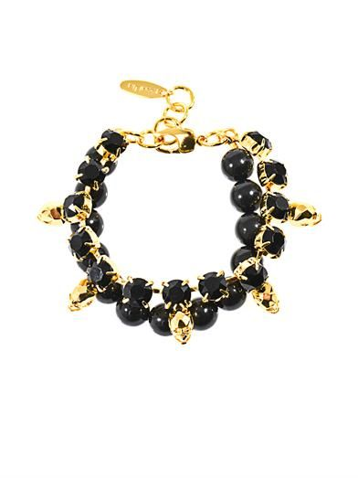 Joomi Lim Crystal skull and bead bracelet