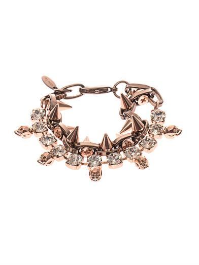 Joomi Lim Crystal, skull and spike bracelet