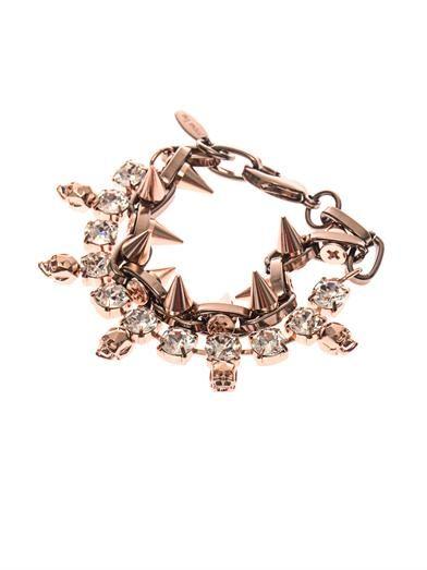 Joomi Lim Crystal, skull and spike bracelet