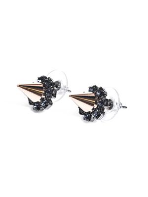Spike and crystal earrings