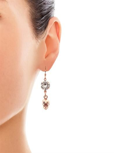 Joomi Lim Crystal and skull drop earrings