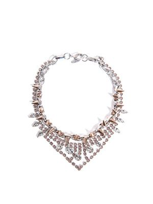 Crystal and spike necklace