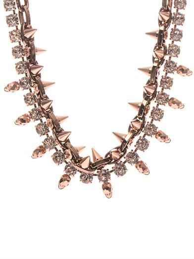 Joomi Lim Crystal, skull and spike necklace