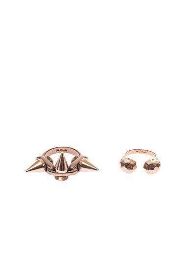 Joomi Lim Stacked spike and skull rings