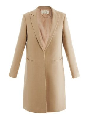 Double-crepe wool coat