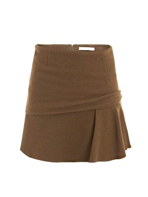 Panel band and frill skirt