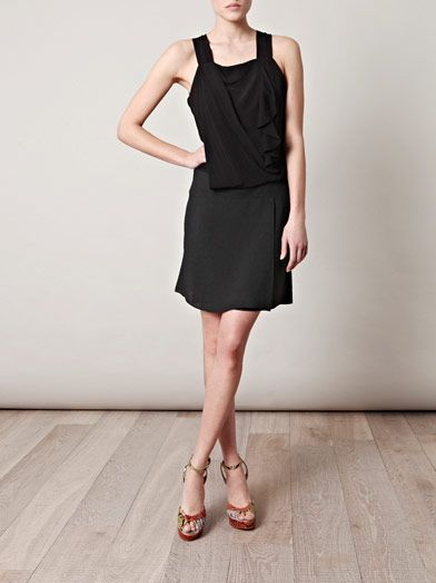 Vanessa Bruno Ruffle front crepe dress