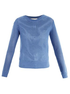 Open weave alpaca sweater