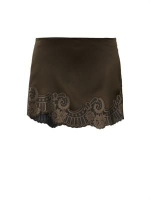 Birmingham lace-trimmed mini skirt
