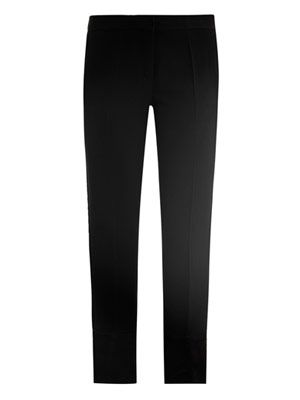 Ankle side-split trousers