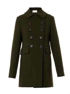 Boston double-breasted wool coat