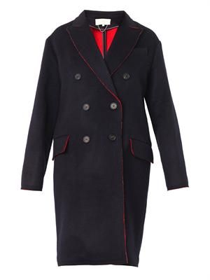 Brisbane double-faced wool coat