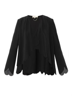 Silk-crepe jacket