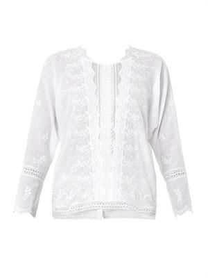 Bacoli embroidered cotton blouse