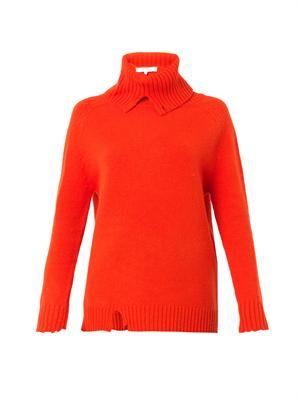 Bourrache distressed wool sweater