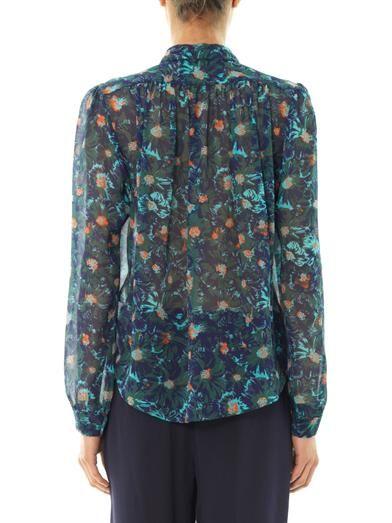 Vanessa Bruno Lagoon-print silk blouse