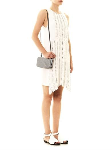 Vanessa Bruno Embellished pleat front sleeveless dress