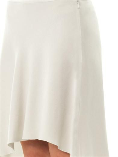 Vanessa Bruno Satin-crepe asymmetric skirt