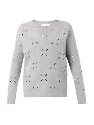 Ballote laser-cut sweater