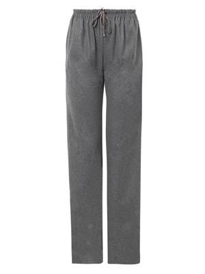 Bristol wide-leg flannel trousers