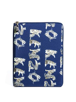 Tiger-print iPad® case