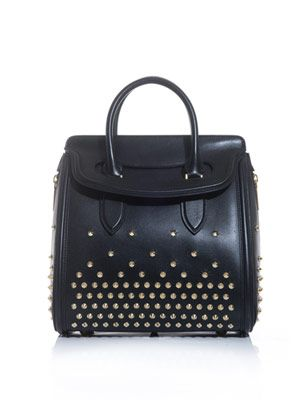Heroine studded leather bag