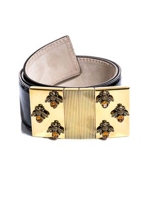 Tortoiseshell Bee buckle belt