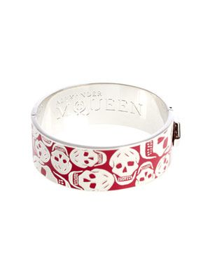 Medium enamel skull bangle