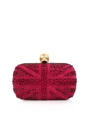 Swarovski crystal Union Jack clutch