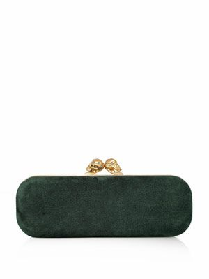 East West twin skull clutch