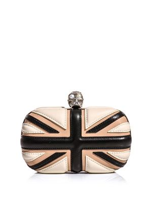 Leather Union Jack box clutch