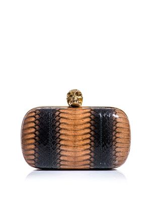 Degradé python box clutch