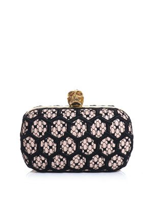 Honeycomb crochet box clutch