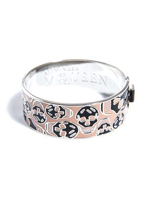 Skull-print enamel bangle