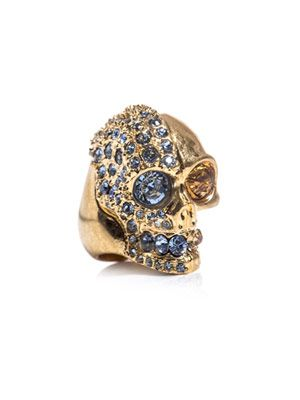 Two-faced skull ring