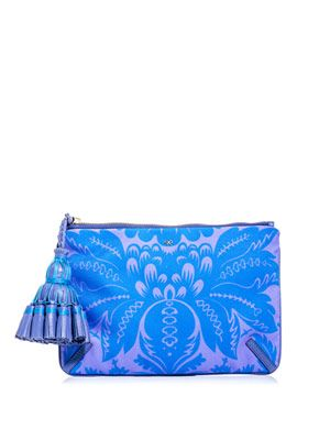 Courtney damask-print clutch
