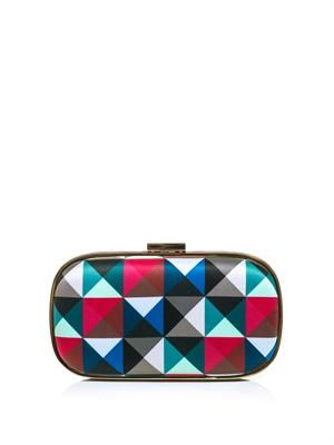 Marano eye twister pyramid-print clutch