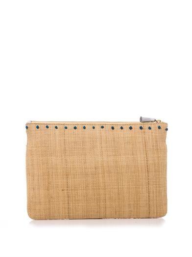 Anya Hindmarch Nevis straw clutch