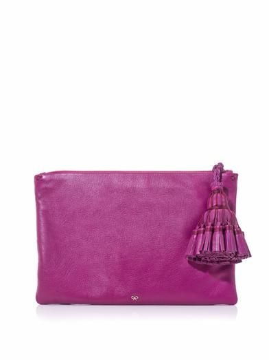 Anya Hindmarch Georgiana tassel leather clutch