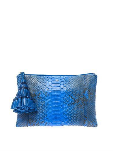 Anya Hindmarch Georgiana python clutch