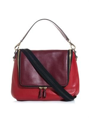 Maxi zip satchel bag