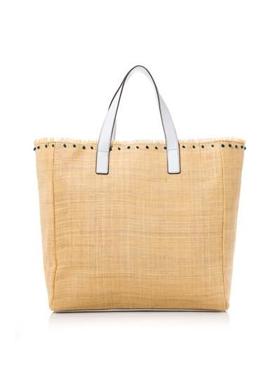 Anya Hindmarch Nevis straw and leather tote