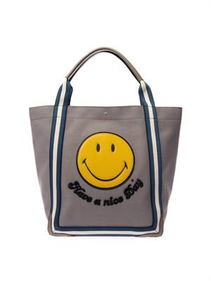 Smiley Pont canvas tote