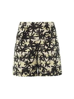 Palm-print jacquard shorts