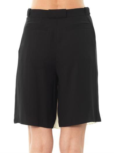 Kenzo Pleated-front bi-colour culottes