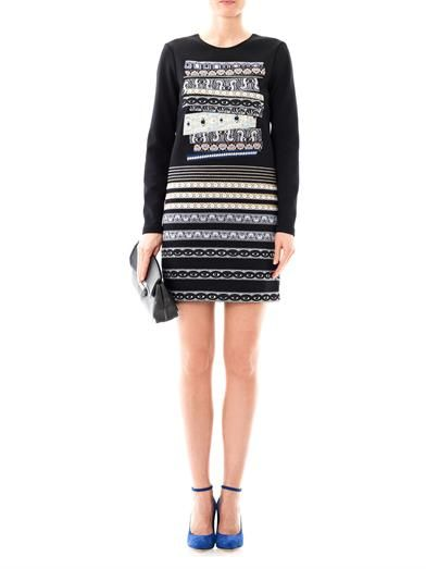 Kenzo Temple-eye neoprene dress